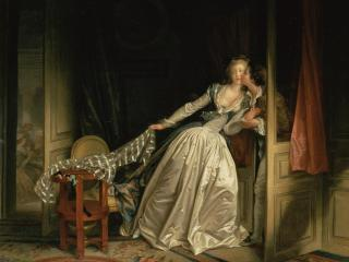 обои Fragonard, Jean-Honore - The Stolen Kiss фото