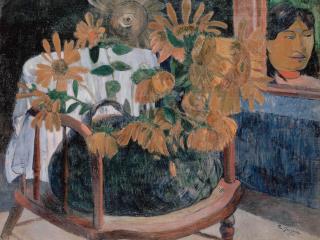обои Gauguin, Paul - Sunflowers фото