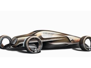 обои Маленькая, гоночная машина будущего фото