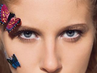 обои Макияж глаз - Серебристые блестки фото