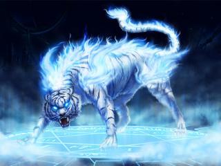 обои Дух белого тигра фото