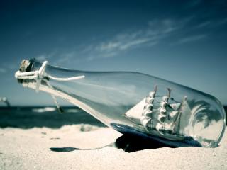 обои Корабль в бутылке фото
