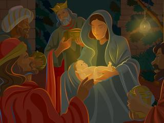 обои The birth of Christ фото