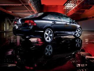 обои Хонда Сивик седан - черный блеск фото