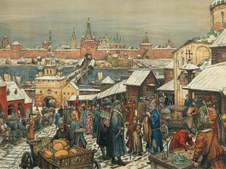 обои Новгородский торг фото
