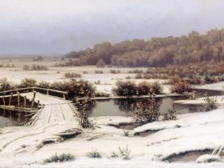 обои Ефим ВОЛКОВ  Первый снег. 1883 фото