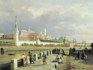 обои Пётр ВЕРЕЩАГИН  Вид Московского кремля фото