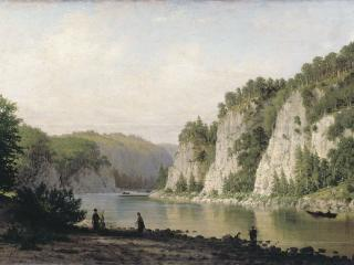 обои Пётр ВЕРЕЩАГИН Камень «Писанный» на реке Чусовой фото