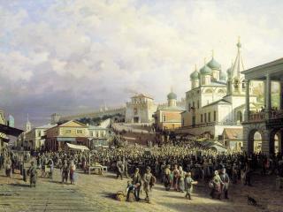 обои Пётр ВЕРЕЩАГИН Рынок в Нижнем Новгороде фото
