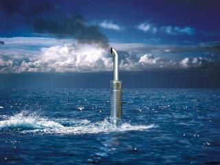 обои Подводный дальнобойщик фото
