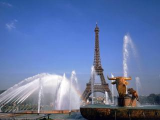 обои Фонтан в Париже фото