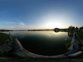 обои Озеро в парке фото