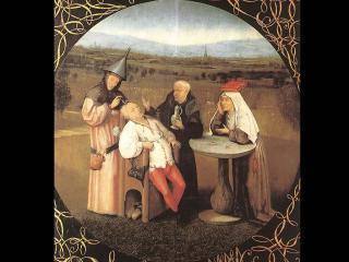 обои Hieronymus Bosch - Извлечение камня глупости фото