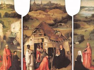 обои Hieronymus Bosch - Поклонение волхвов фото