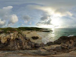 обои Коса, окруженная морем фото