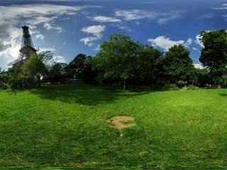 обои Парк перед телевизонной станцией фото