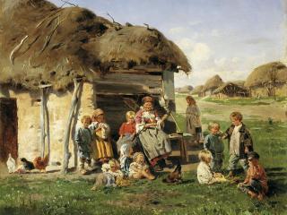 обои Владимир МАКОВСКИЙ (1846-1920). Крестьянские дети фото