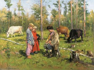 обои Владимир МАКОВСКИЙ (1846-1920). Пастушки фото