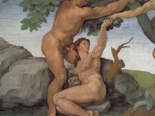 обои Микеланджело Буонарроти - Грехопадение фото