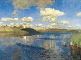 обои Исаак ЛЕВИТАН (1860 — 1900). Озеро. Русь фото