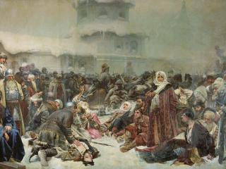 обои Клавдий ЛЕБЕДЕВ (1852-1916). Марфа Посадница. Уничтожение новгородского веча фото