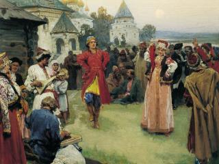 обои Клавдий ЛЕБЕДЕВ (1852-1916). Пляска фото