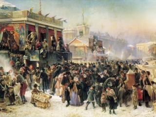 обои Константин МАКОВСКИЙ (18397 — 1915). Народное гулянье во время Масленицы фото