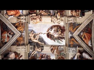 обои Микеланджело - Деталь росписи «Сотворение Адама» фото