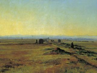 обои Александр ИВАНОВ  Аппиева дорога при закате солнца фото