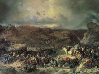 обои Александр КОЦЕБУ  Переход войск Суворова через Сен-Готард фото