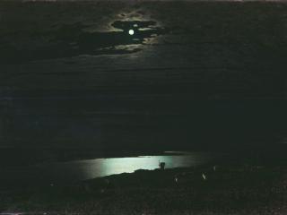 обои Лунная ночь на Днепре фото