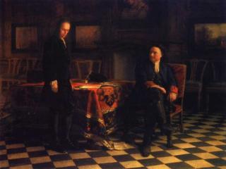 обои Николай Ге - Пётр I допрашивает царевича Алексея Петровича в Петергофе фото