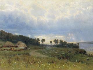 обои Константин КРЫЖИЦКИЙ (1858 — 1911). Перед дождём фото