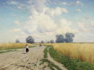 обои Константин КРЫЖИЦКИЙ Дорога. 1899 фото