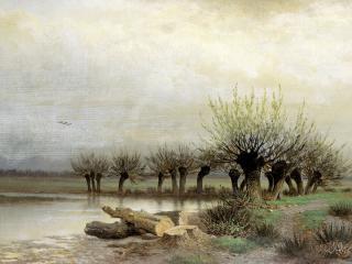 обои Лев КАМЕНЕВ (1833-1886). Весна. 1866 фото