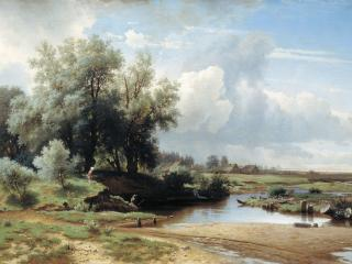 обои Лев КАМЕНЕВ (1833-1886). Пейзаж. 1861 фото