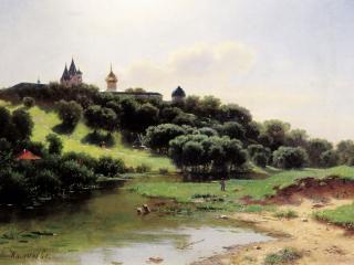 обои Лев КАМЕНЕВ Саввино-Сторожевский монастырь под Звенигород фото