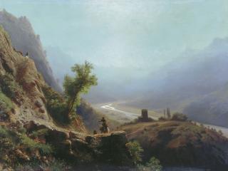 обои Лев ЛАГОРИО  В горах Кавказа фото