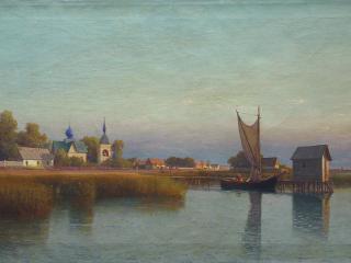 обои Лев ЛАГОРИО  Вид городка со стороны реки фото