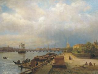 обои Лев ЛАГОРИО  Вид на Неву и Петропавловскую крепость фото