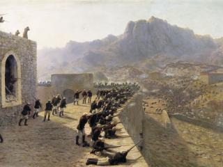 обои Лев ЛАГОРИО  Отбитие штурма крепости Баязет 8 июня 1877 года фото