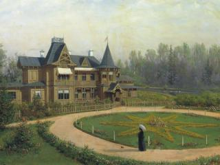 обои для рабочего стола: Лев ЛАГОРИО (1827-1905). Дача. 1892