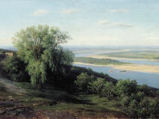 обои Михаил  КЛОДТ  Волга под Симбирском фото