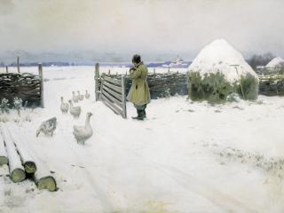 обои Михаил ГЕРМАШЕВ Снег выпал фото
