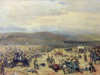 обои Николай ДМИТРИЕВ-ОРЕНБУРГСКИЙ  Последний бой под Плевной 28 ноября 1877 года фото