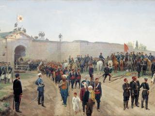 обои Николай ДМИТРИЕВ-ОРЕНБУРГСКИЙ  Сдача крепости Никополь 4 июля 1877 года фото