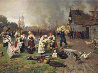 обои Николай ДМИТРИЕВ-ОРЕНБУРГСКИЙ Пожар в деревне фото