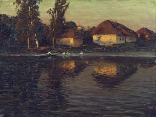 обои Николай ДУБОВСКОЙ (1859-1918). Вечер в Украине фото