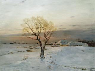 обои Николай ДУБОВСКОЙ (1859-1918). Морозное утро фото