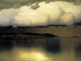 обои Николай ДУБОВСКОЙ (1859-1918). Притихло фото